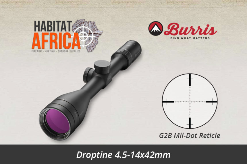 Burris Droptine 4.5-14x42mm Riflescope G2B Mil-Dot Reticle