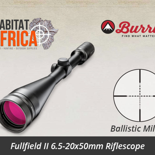 Burris Fullfield II 6.5-20x50mm Ballistic Mil-Dot Reticle