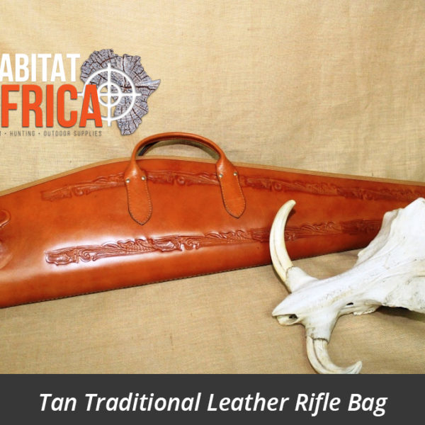 Tan Traditional Leather Rifle Bag