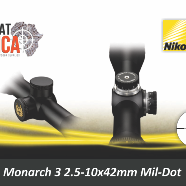 Nikon Monarch 3 2.5-10 X 42 Mil-Dot Reticle