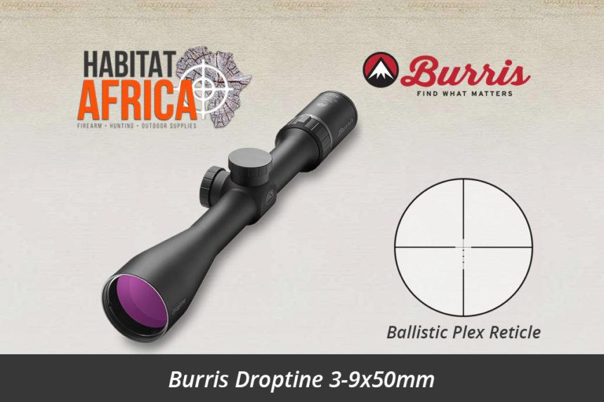 Burris Droptine 3-9x50mm Riflescope with Ballistic Plex Reticle