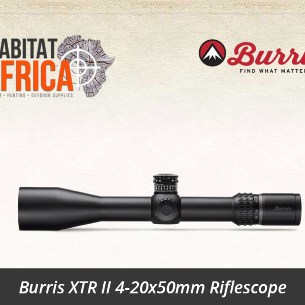 Burris XTR II 4-20x50mm Riflescope SCR MOA Reticle