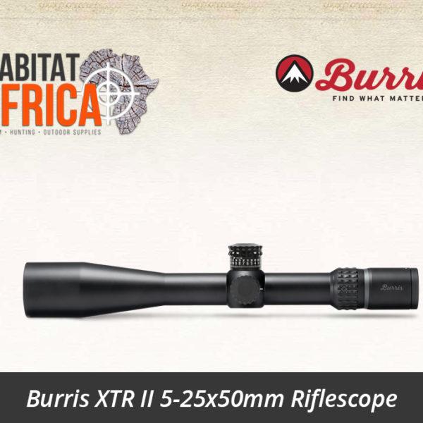 Burris XTR II 5-25x50mm Riflescope SCR MOA Reticle