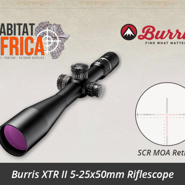 Burris XTR II 5-25x50mm SCR MOA Reticle