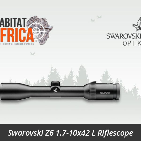 Swarovski Z6 1.7-10x42 L Riflescope 4A Reticle