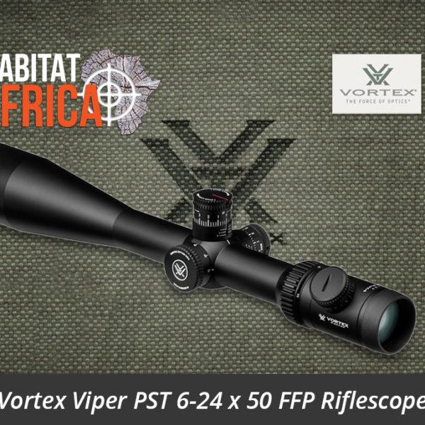 Vortex Viper PST 6-24 x 50 FFP Riflescope EBR-2C MRAD Reticle Optic