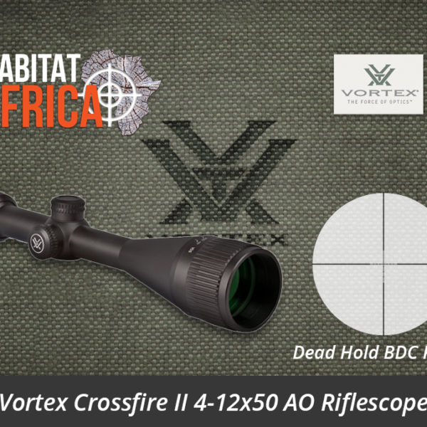 Vortex Crossfire II 4-12x50 AO Riflescope Dead-Hold BDC MOA Reticle