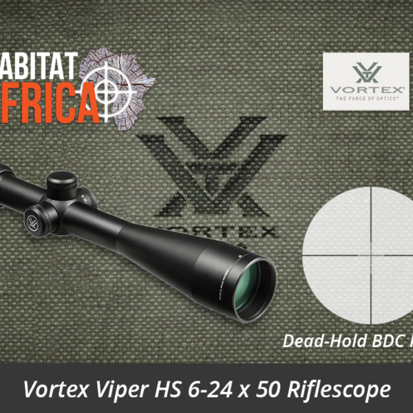 Vortex Viper HS 6-24 x 50 Riflescope Dead-Hold BDC MOA Reticle