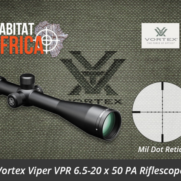 Vortex Viper VPR 6.5-20 x 50 PA Riflescope Mil Dot Reticle