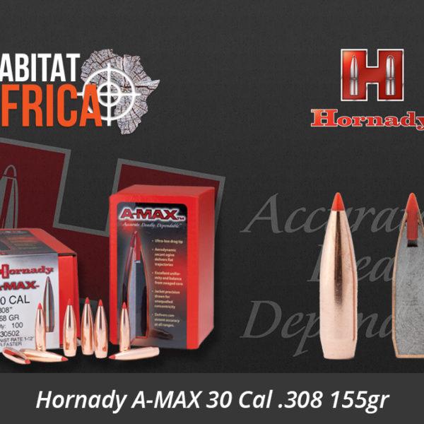 Hornady A-MAX 30 Cal .308 155gr