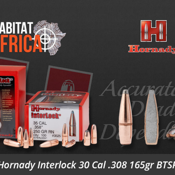 Hornady Interlock 30 Cal .308 165gr BTSP Bullets