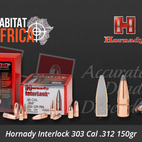 Hornady Interlock 303 Cal 312 150gr SP Bullets