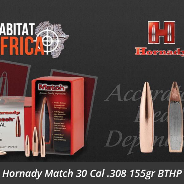 Hornady Match 30 Cal .308 155gr BTHP