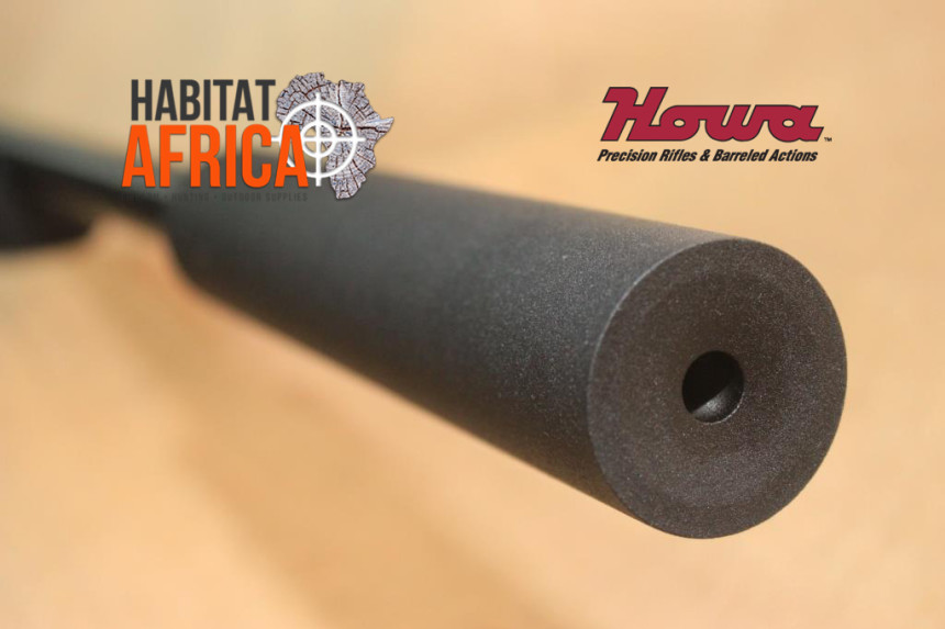 Howa EuroVarmint Blued in Nutmeg Laminate with Ingwe Stainless Steel Suppressor