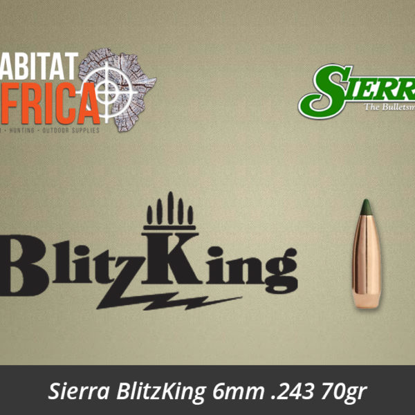 Sierra BlitzKing 6mm 243 70gr