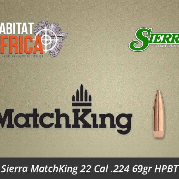 Sierra MatchKing 22 Cal .224 69gr HPBT