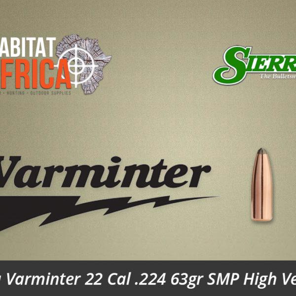 Sierra Varminter 22 Cal .224 63gr SMP High Velocity