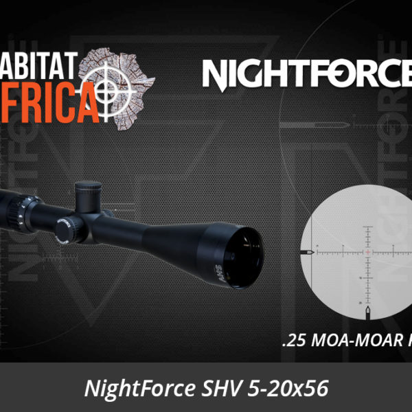 NightForce SHV 5-20x56 Riflescope with .25 MOA-MOAR Reticle