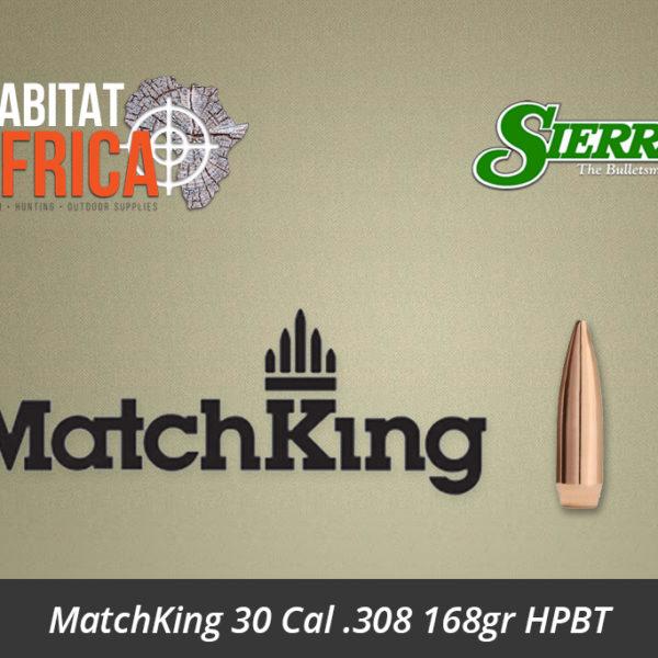 Sierra MatchKing 30 Cal .308 168gr HPBT