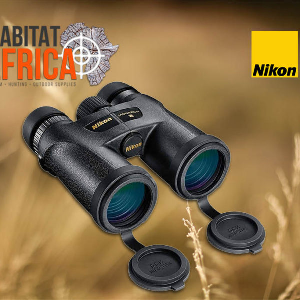 Nikon MONARCH 7 8x42 DCF Binoculars - Lense Caps Open