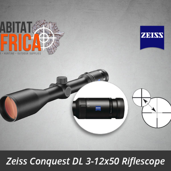 Zeiss Conquest DL 3-12x50 Riflescope Reticle 6 Non-Illuminated