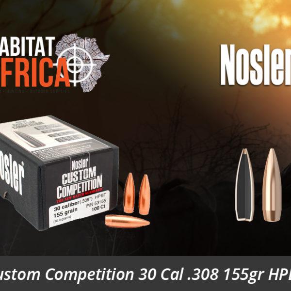 Nosler Custom Competition 30 Cal 308 155gr HPBT Bullet