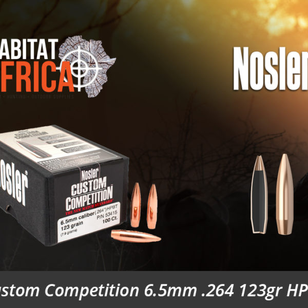 Nosler Custom Competition 6.5mm 264 123gr HPBT Bullet