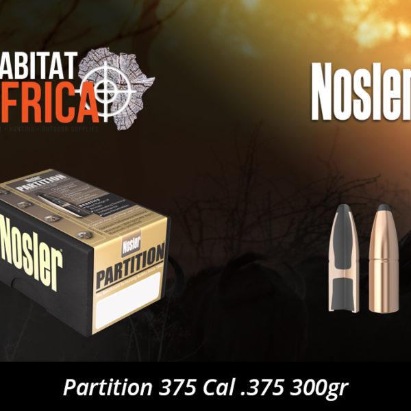 Nosler Partition 375 Cal .375 300gr Bullet