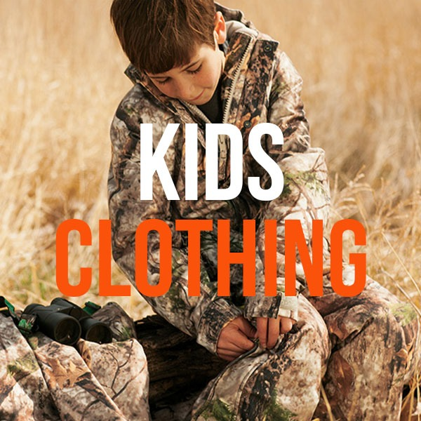 Kids Camo Hunting Clothing and Kids Hunting Apparel