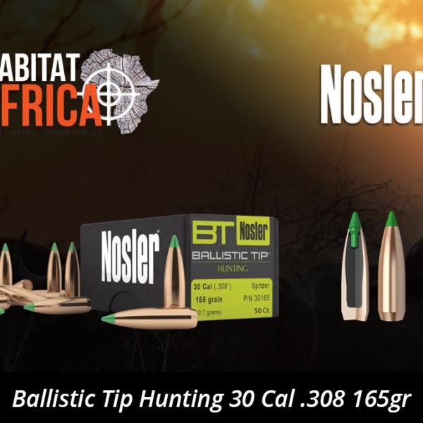 Nosler Ballistic Tip Hunting 30 Cal 308 165gr Bullet