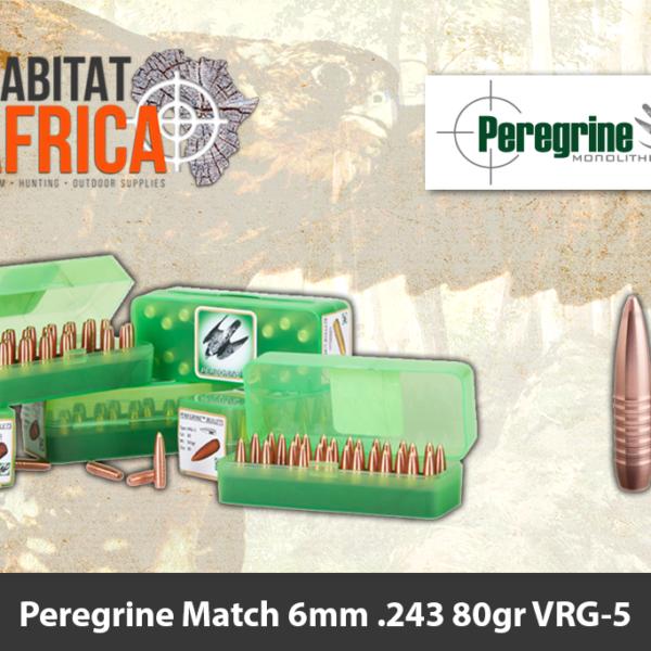 Peregrine Match 6mm .243 80gr VRG-5 Bullet