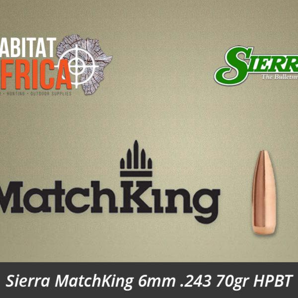 Sierra MatchKing 6mm .243 70gr HPBT Bullet