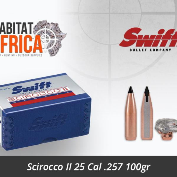 Swift Scirocco II 25 Cal .257 100gr Bullet