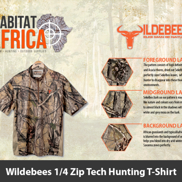 Wildebees 1/4 Zip Tech Hunting T-Shirt