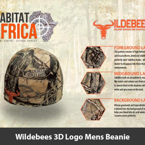 Wildebees 3D Logo Mens Beanie