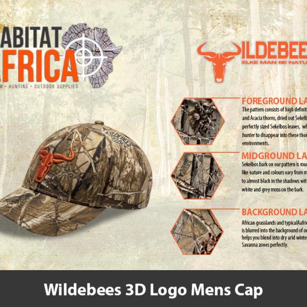Wildebees 3D Logo Mens Cap
