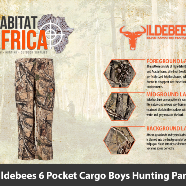 Wildebees 6 Pocket Cargo Boys Hunting Pants