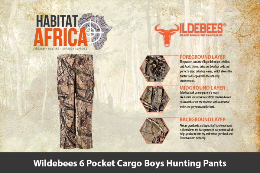Wildebees 6 Pocket Cargo Boys Hunting Pants