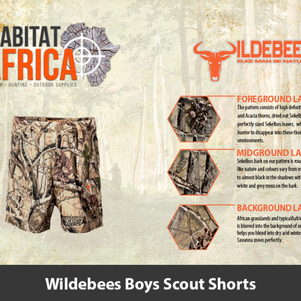 Wildebees Boys Scout Shorts