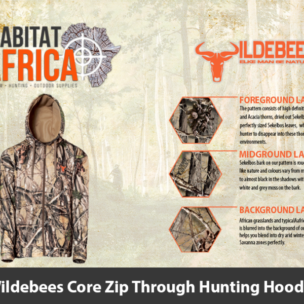 Wildebees Core Zip Through Hunting Hoodie