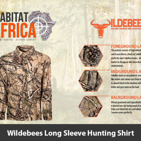 Wildebees Mens Long Sleeve Hunting Shirt