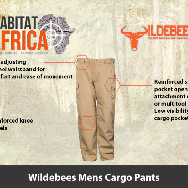Wildebees Mens Cargo Pants