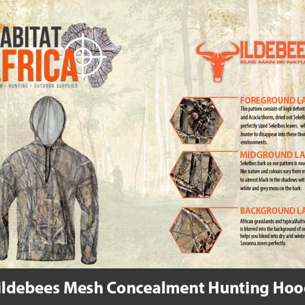 Wildebees Mesh Concealment Hunting Hoody