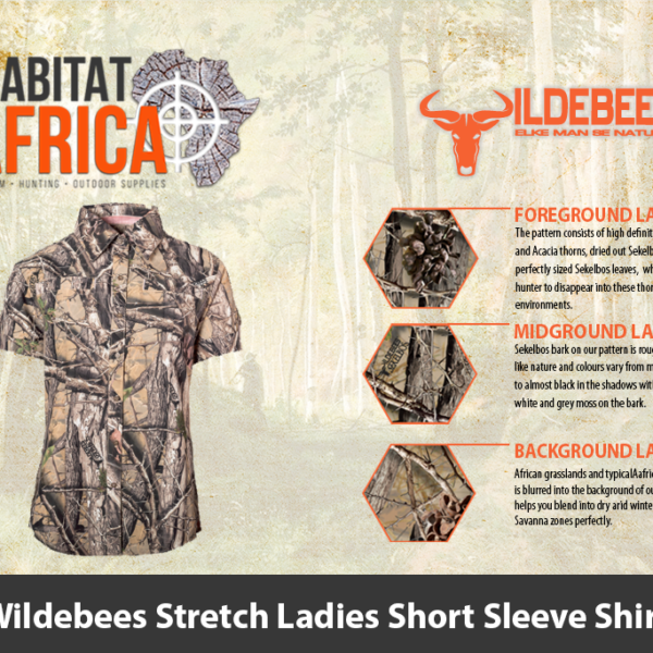 Wildebees Stretch Ladies Short Sleeve Shirt