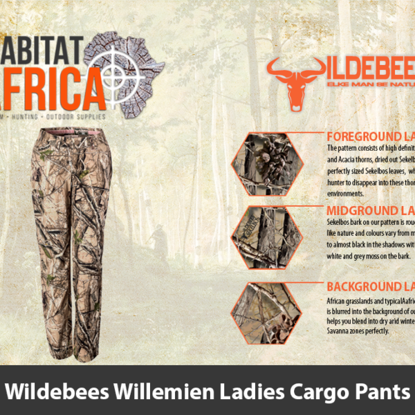Wildebees Willemien Ladies Cargo Pants