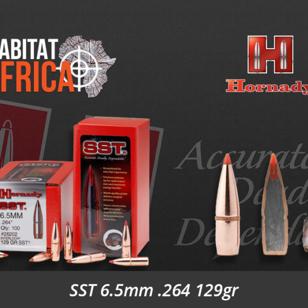 Hornady SST 6.5mm .264 129gr Bullets