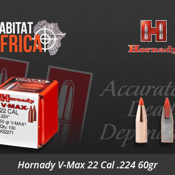 Hornady V-Max 22 Cal .224 60gr Bullets