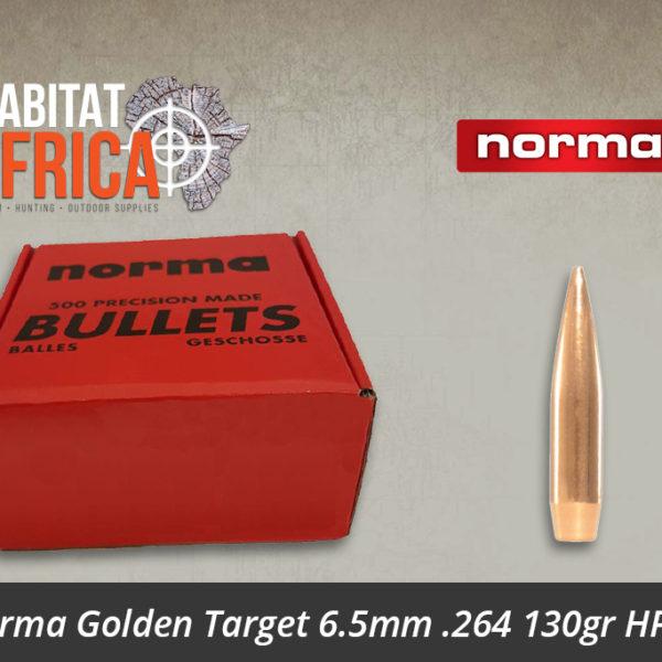 Norma Golden Target 6.5mm .264 130gr HPBT Bullets 500pts
