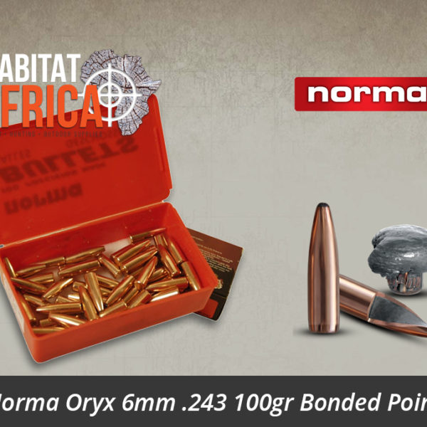 Norma Oryx 6mm .243 100gr Bonded Point Bullets