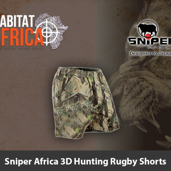 Sniper Africa 3D Hunting Rugby Shorts